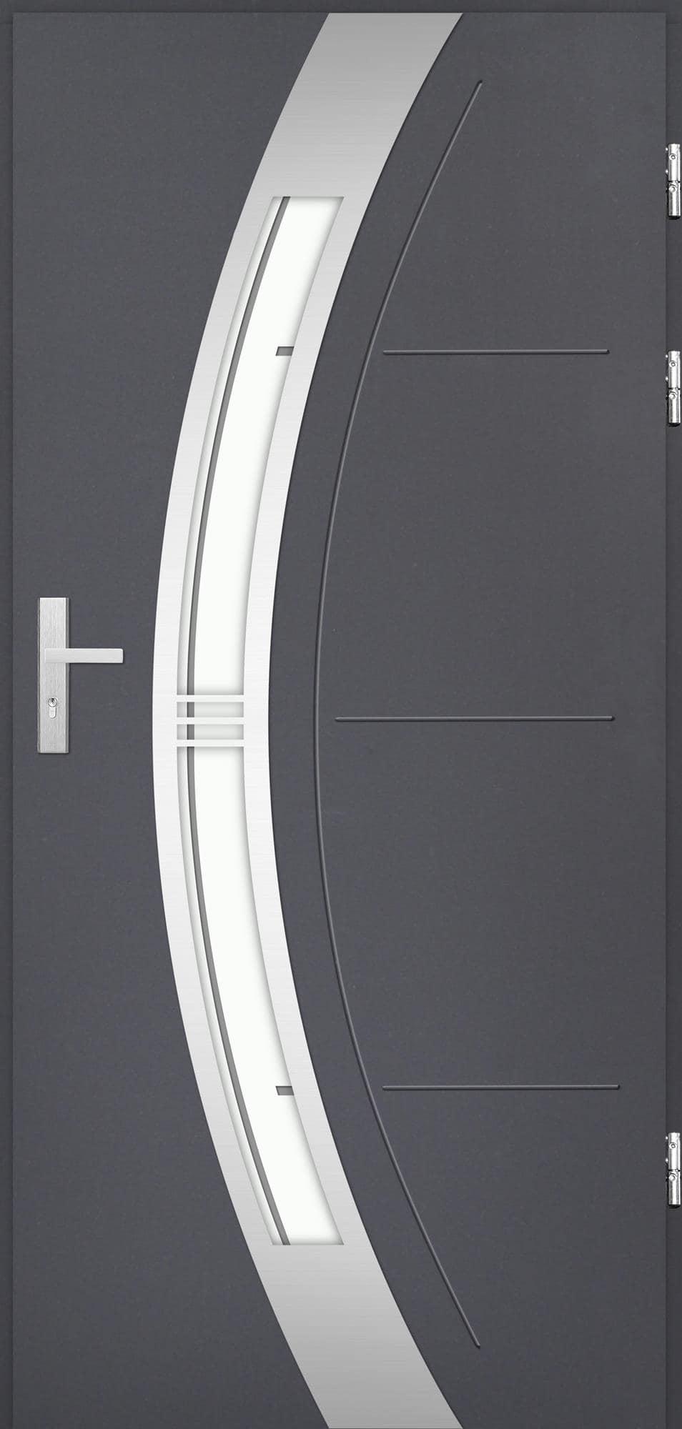 Venkovní vchodové dveøe Andrea, antracit