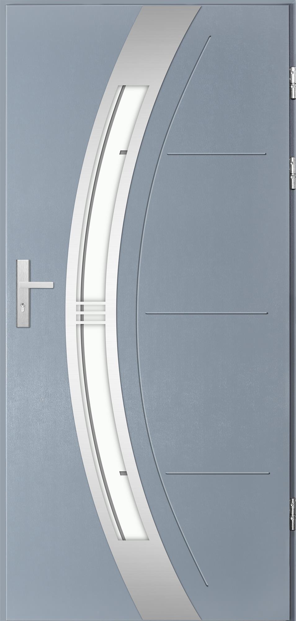 Venkovní vchodové dveøe Andrea, svìtlý antracit