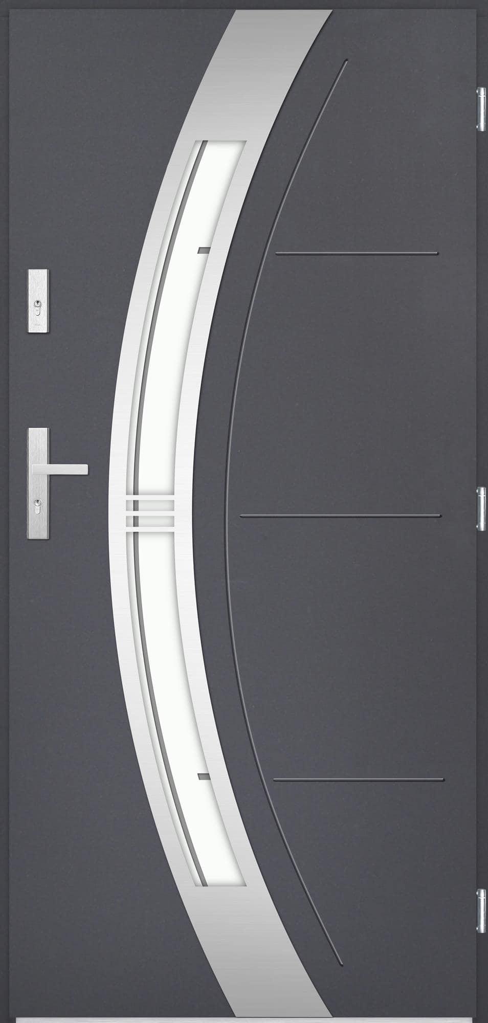 Venkovní vchodové dveøe Andrea v odstínu antracit