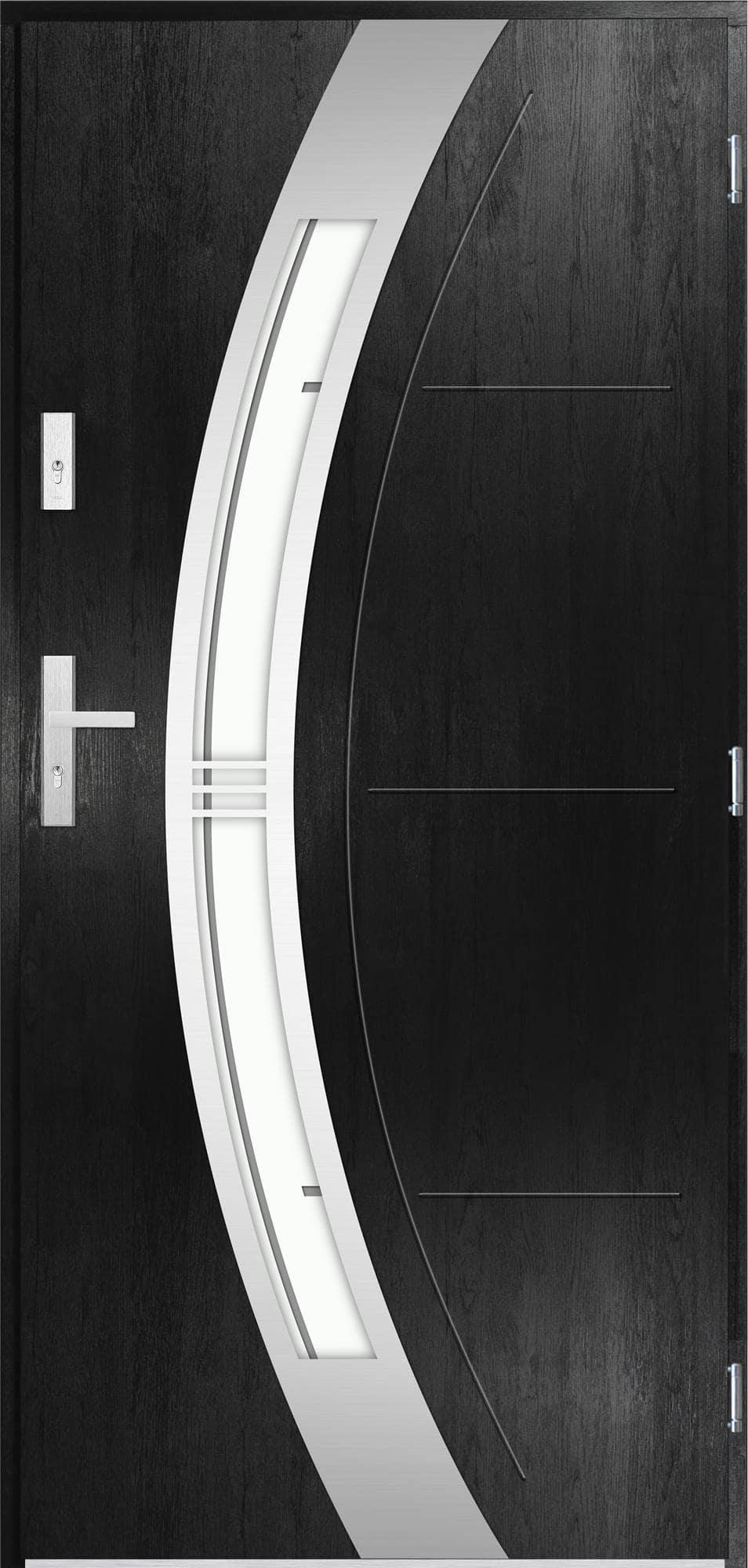 Venkovní vchodové dveøe Andrea, èerná