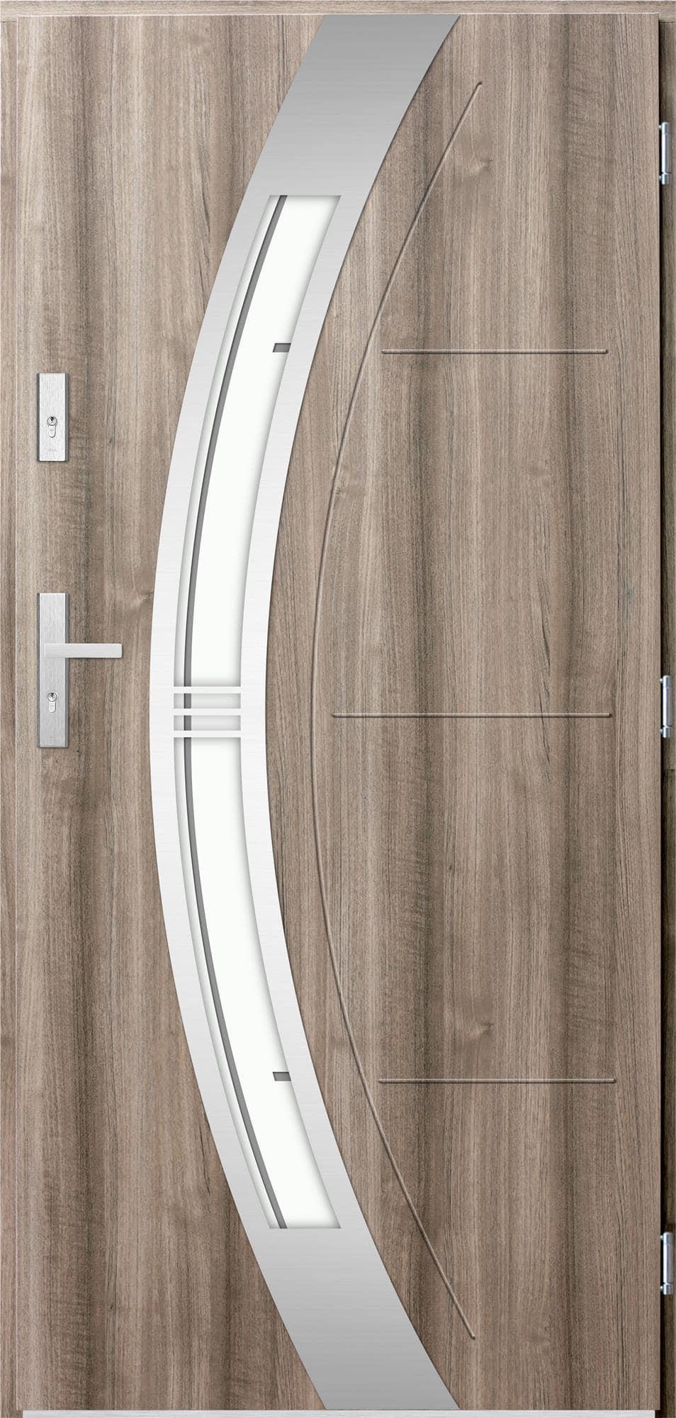Venkovní vchodové dveøe Andrea, svìtlý dub