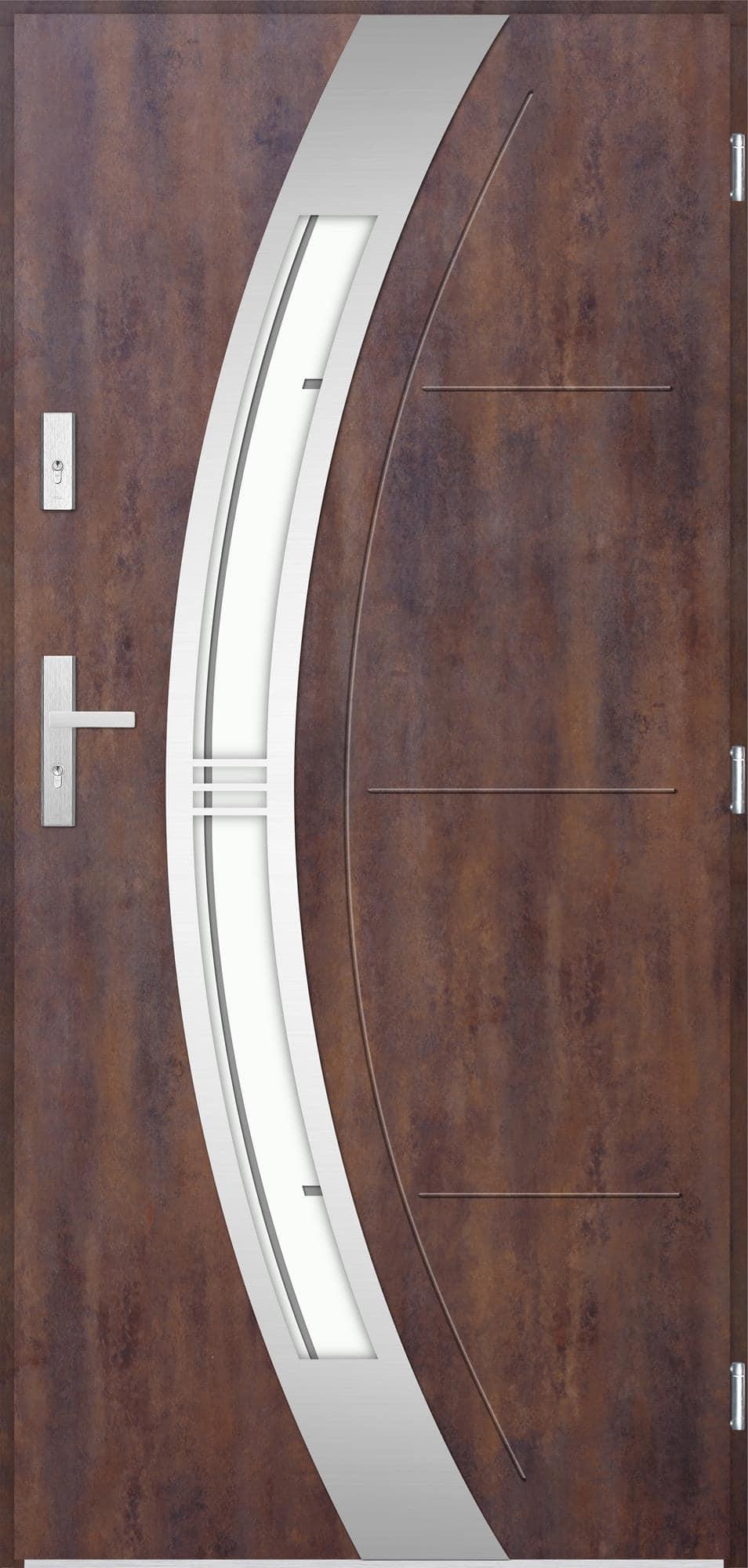 Venkovní vchodové dveøe Andrea, rez