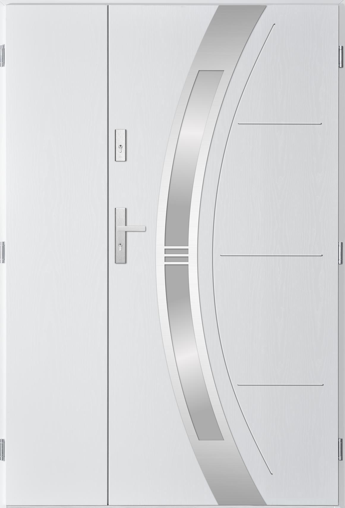 Dvoukøídlé ocelové vchodové dveøe Andrea, bílá