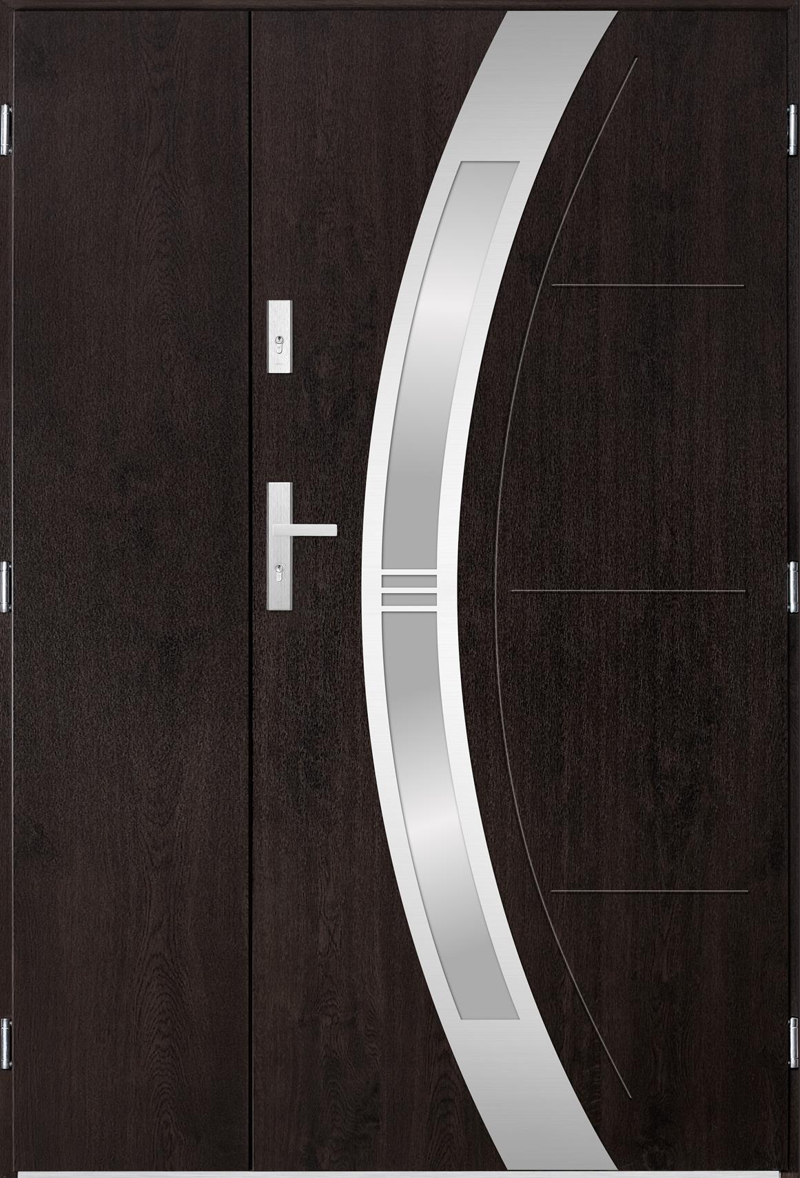 Venkovní dvoukøídlé vchodové dveøe Andrea v odstínu wenge