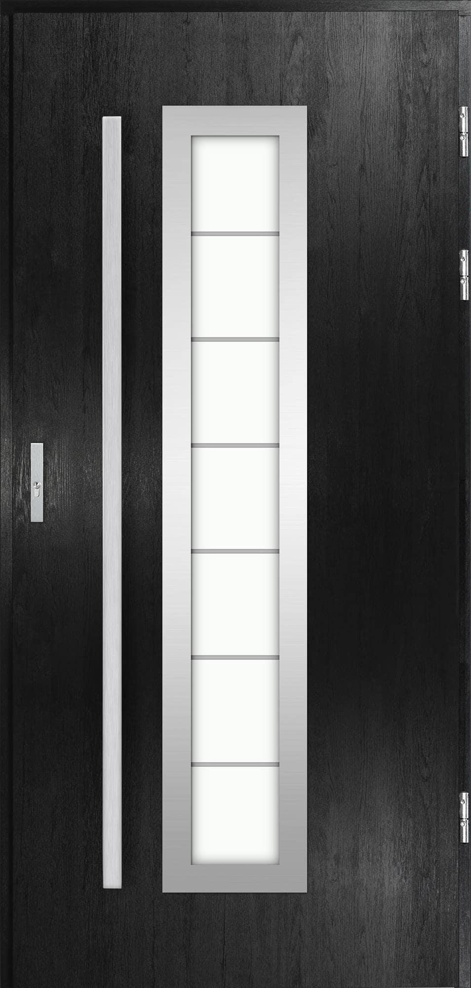 Venkovní vchodové dveøe Hevelio, èerná