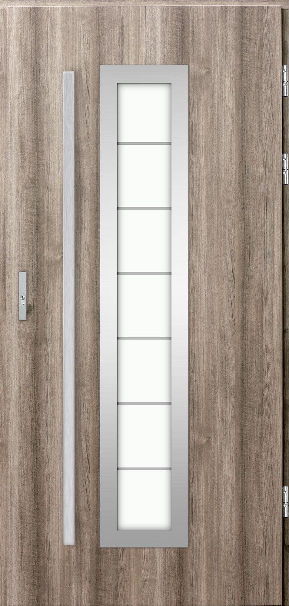 Venkovní vchodové dveøe Hevelio, svìtlý dub
