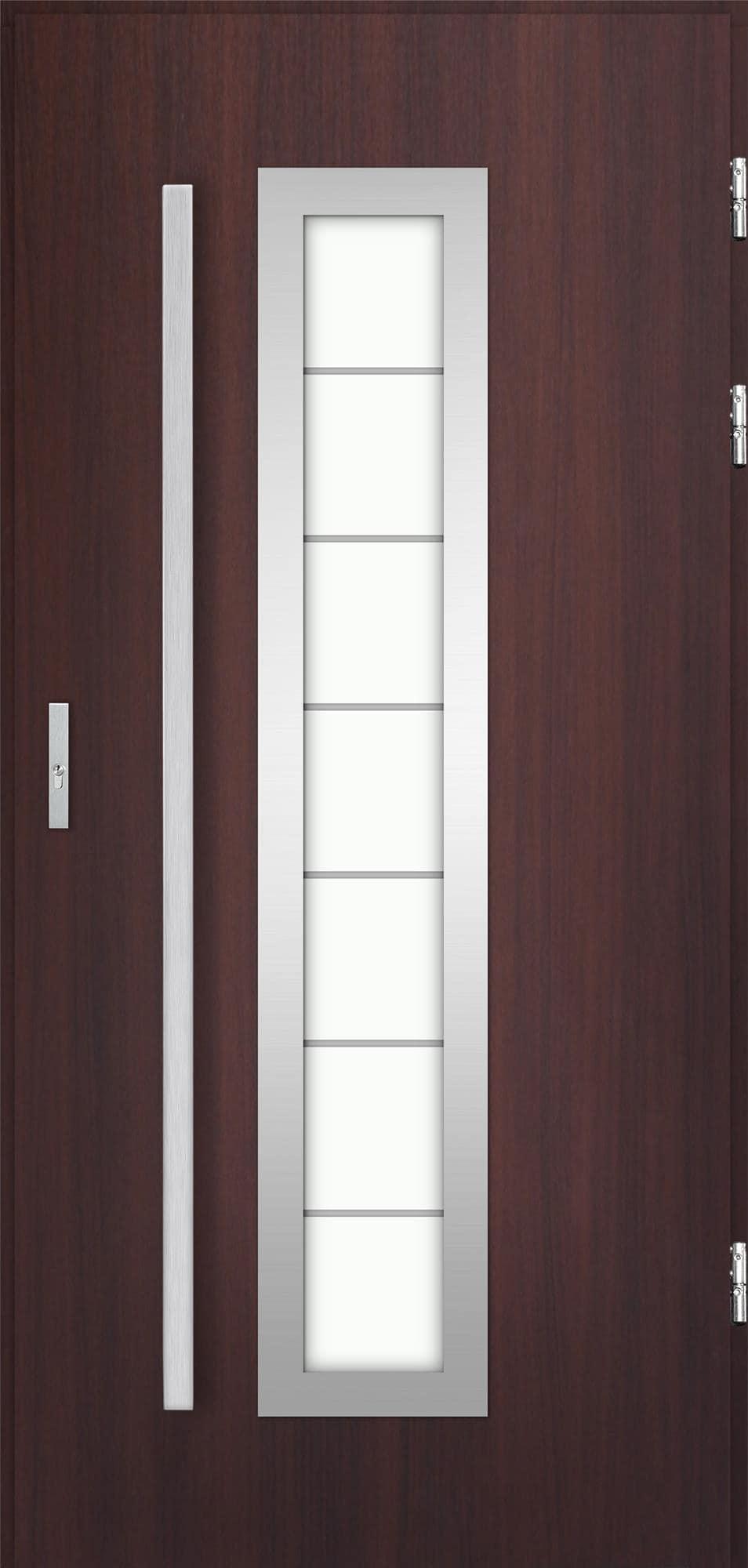 Venkovní vchodové dveøe Hevelio v odstínu mahagon