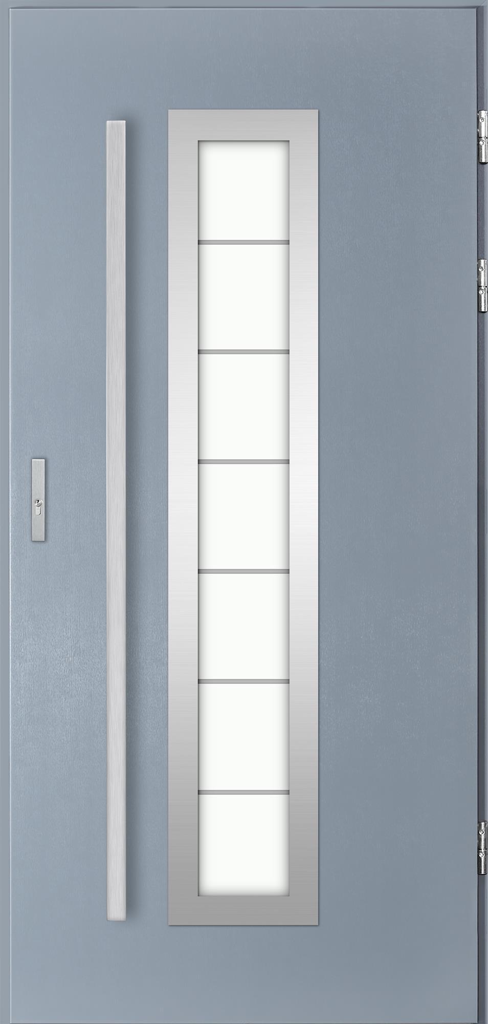 Venkovní vchodové dveøe Hevelio, svìtlý antracit