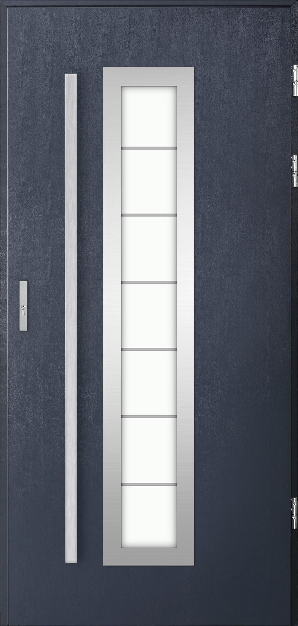 Venkovní vchodové dveøe Hevelio, tm. antracit