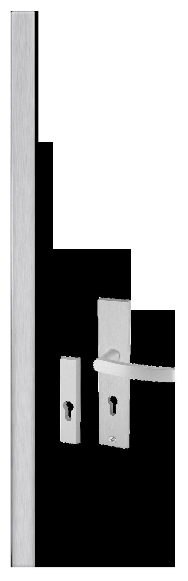 Kování AXA Wobi hranaté rovné, klika AXA a rozety pro vchodové dveøe