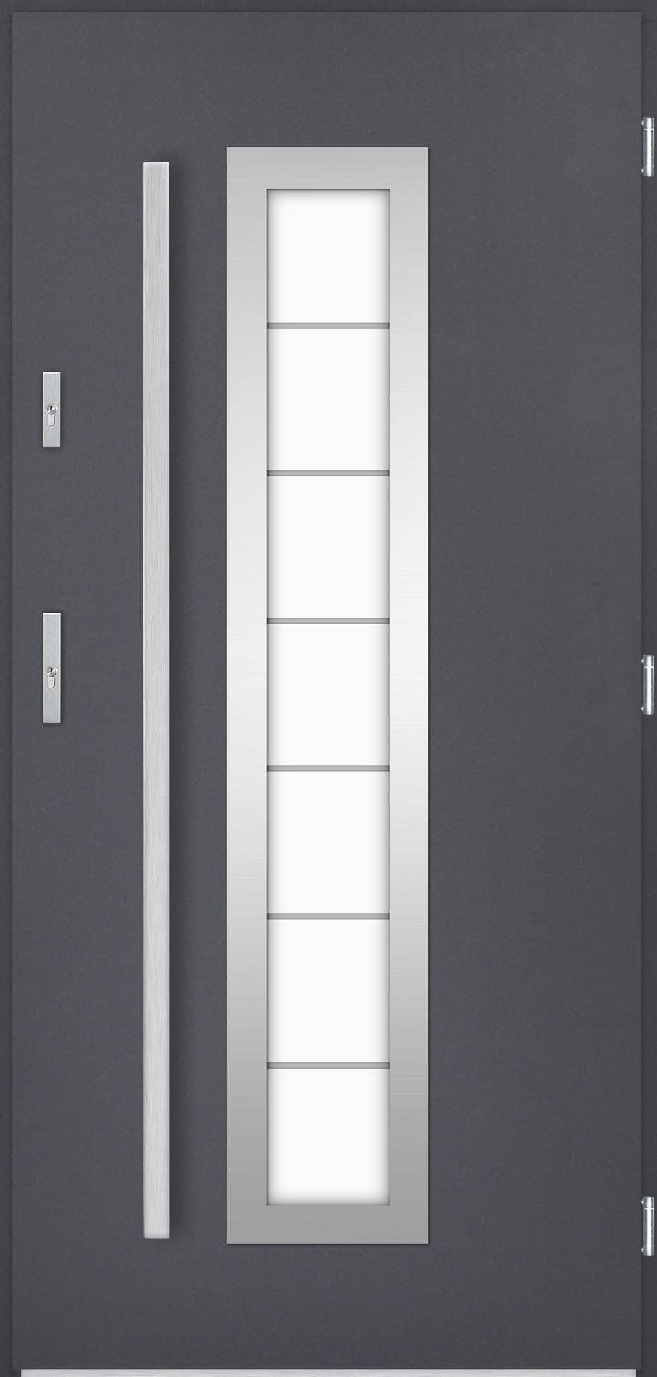 Venkovní vchodové dveøe Hevelio, antracit