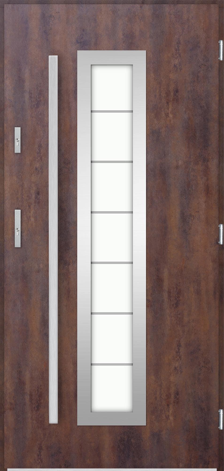 Venkovní vchodové dveøe Hevelio, rez