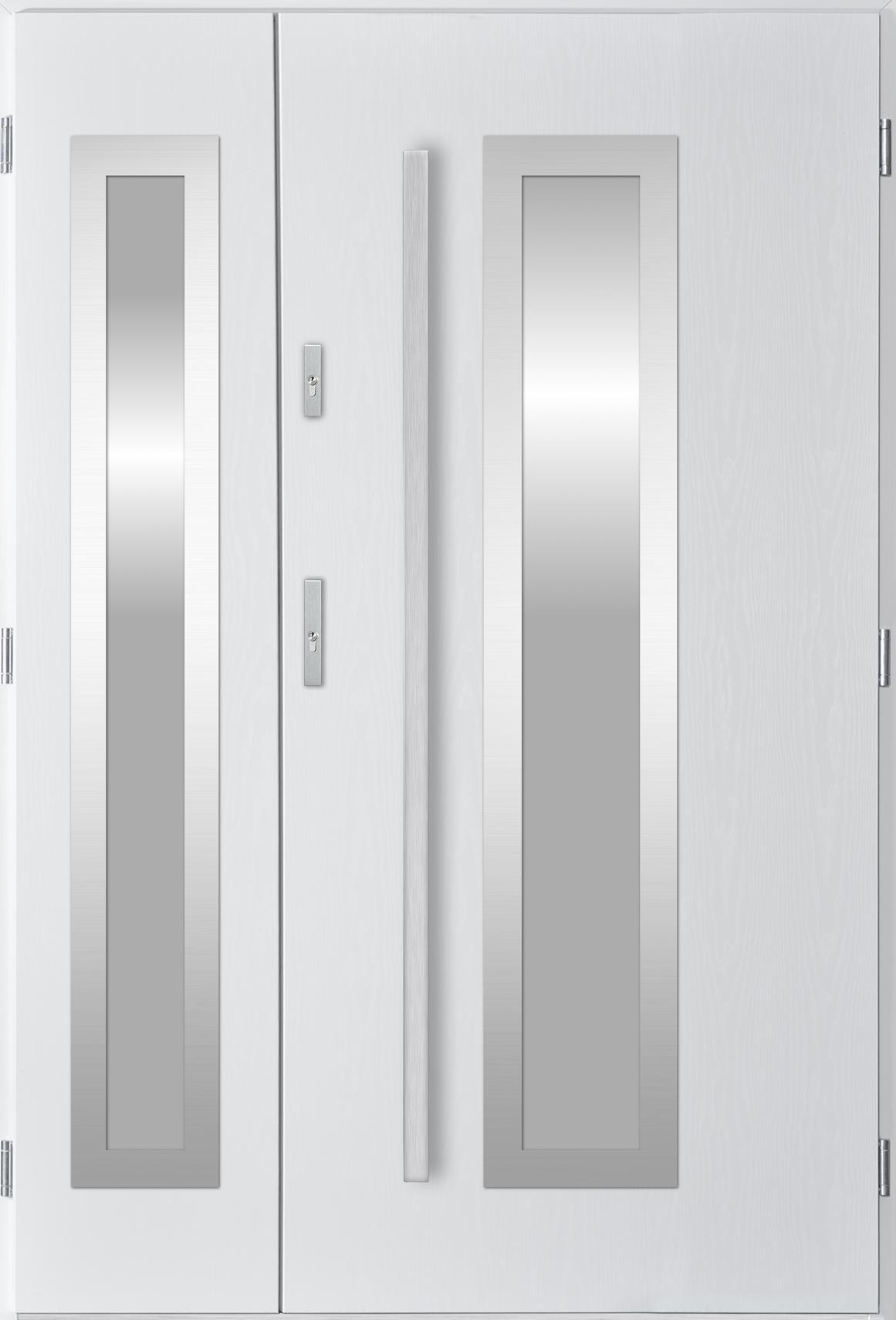 Dvoukøídlé ocelové vchodové dveøe Hevelio, bílá