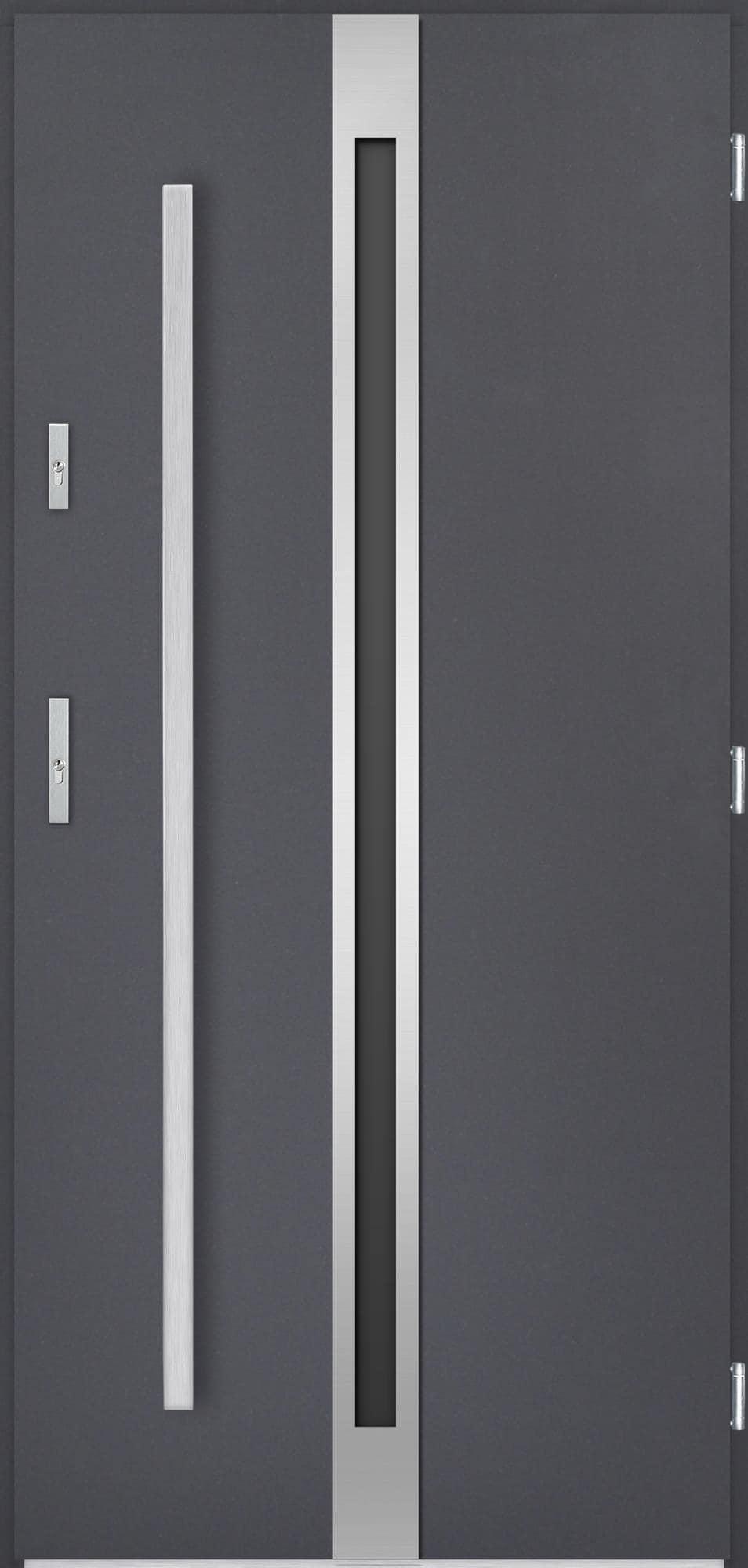 Venkovní vchodové dveøe Linea, antracit