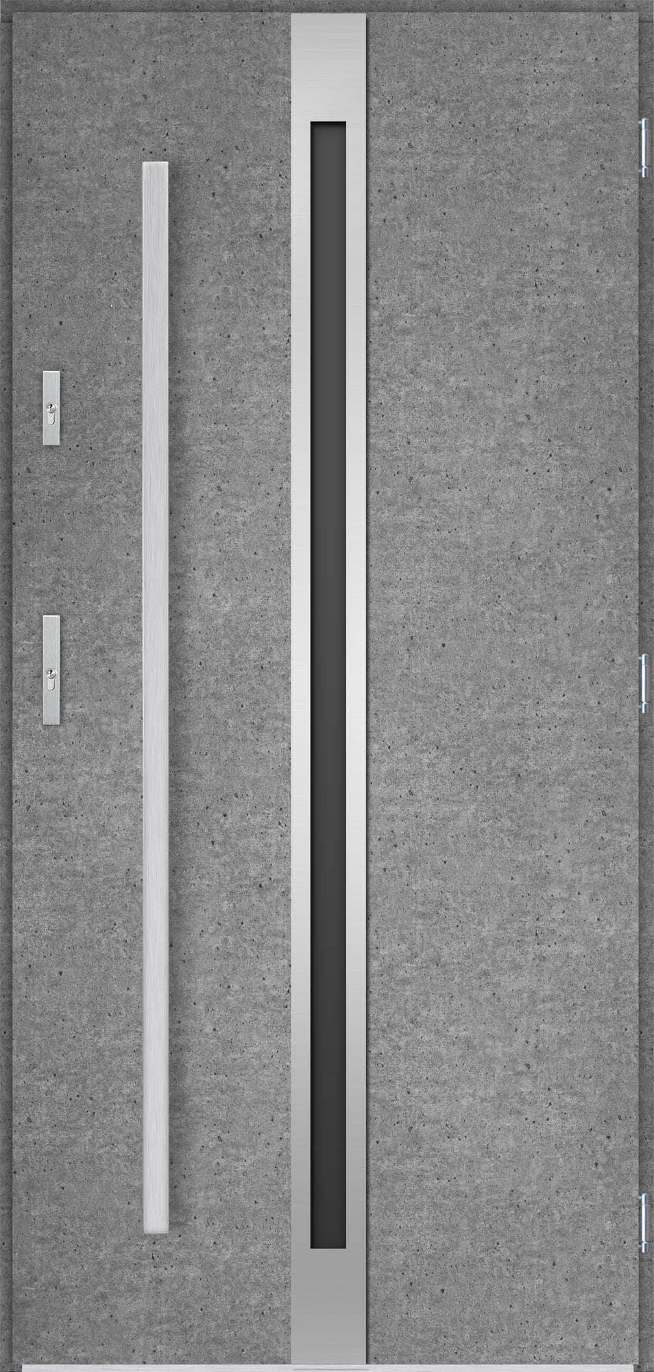 Venkovní vchodové dveøe Linea, beton