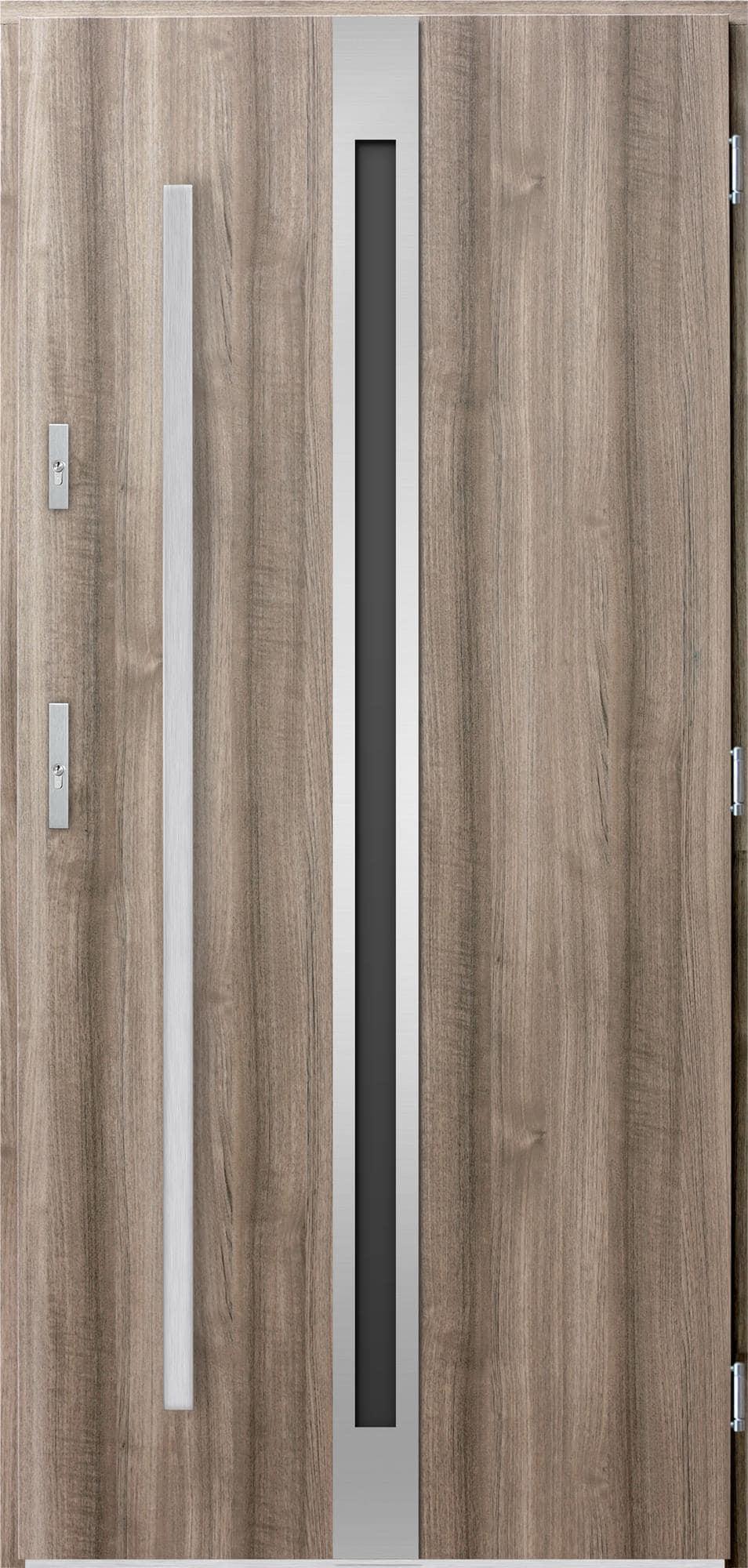 Venkovní vchodové dveøe Linea, svìtlý dub
