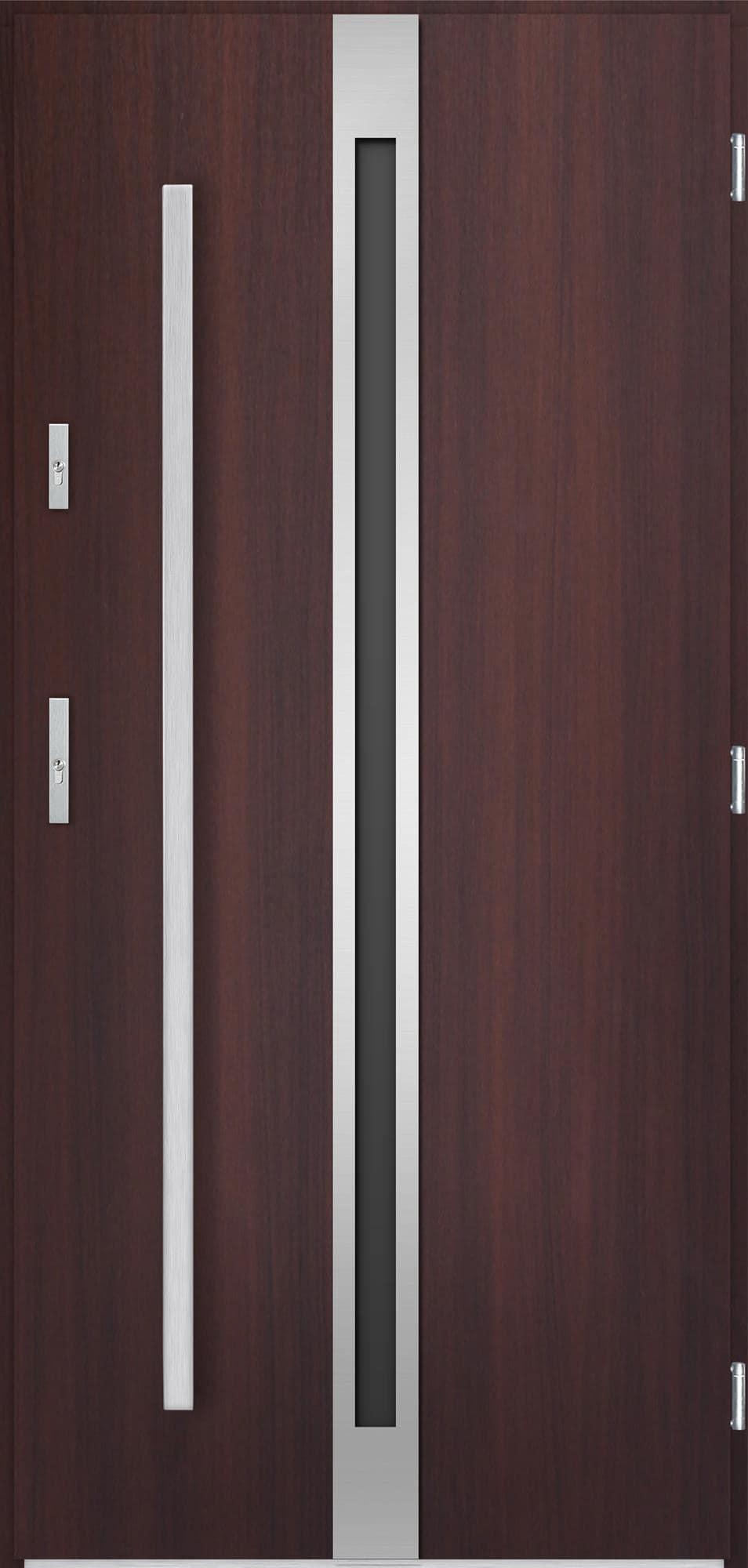 Venkovní vchodové dveøe Linea, mahagon