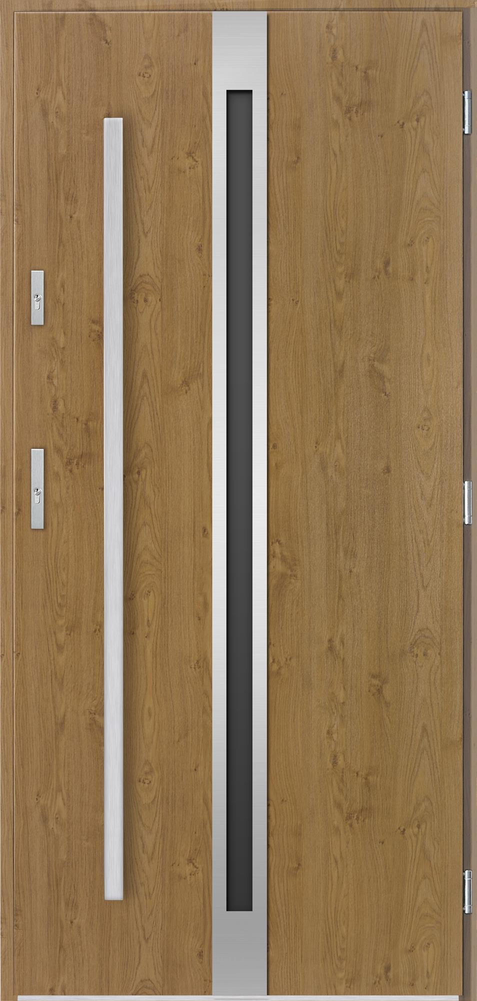Venkovní vchodové dveøe Linea v odstínu winchester