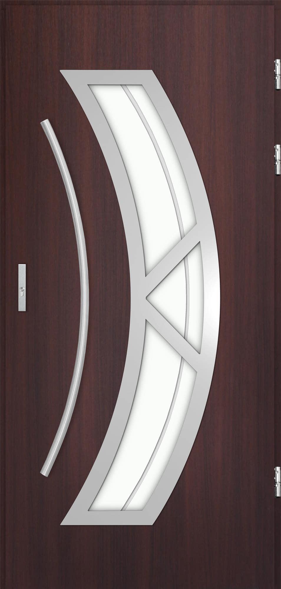 Venkovní vchodové dveøe Olivia, mahagon