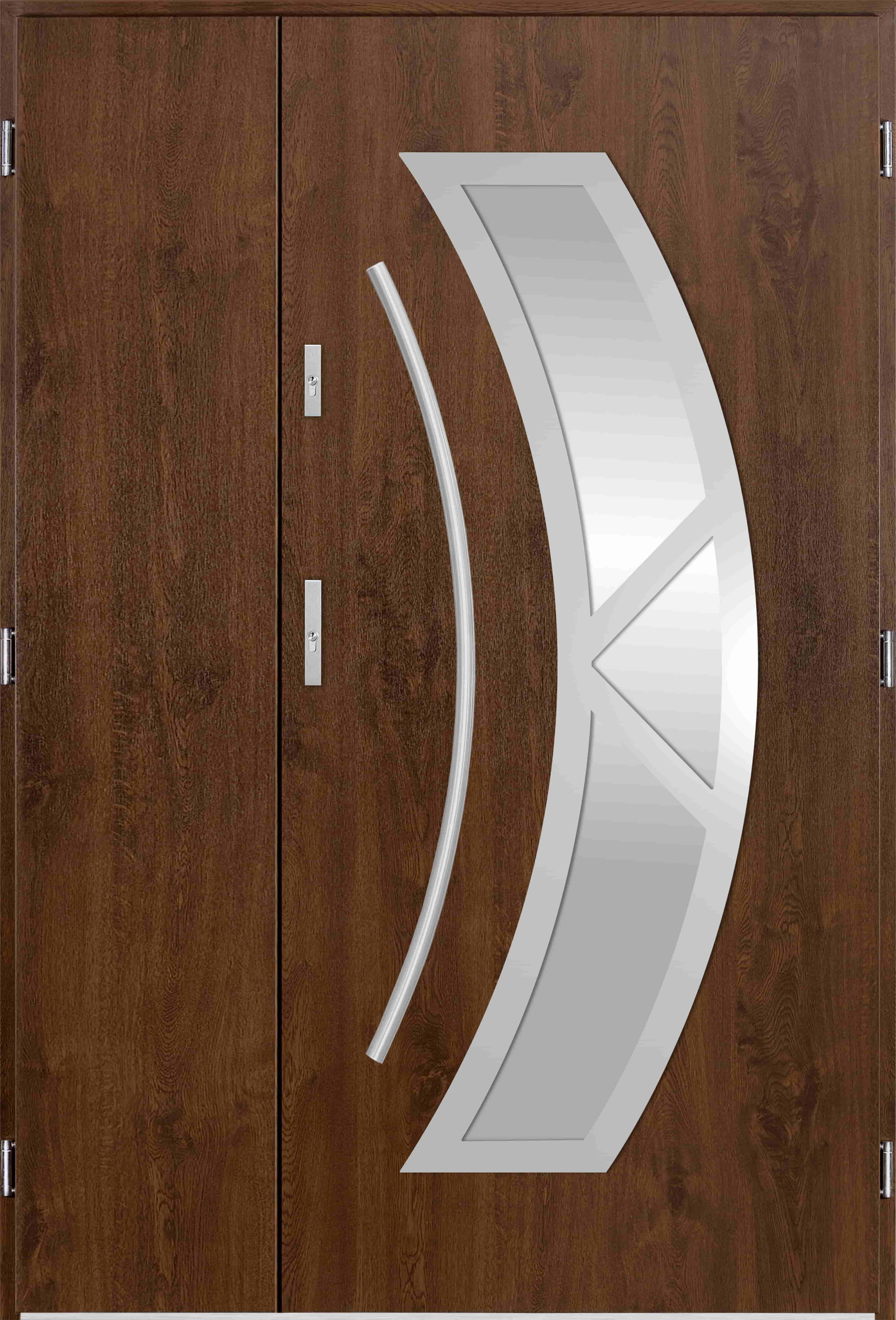 Dvoukøídlé ocelové vchodové dveøe Olivia, oøech