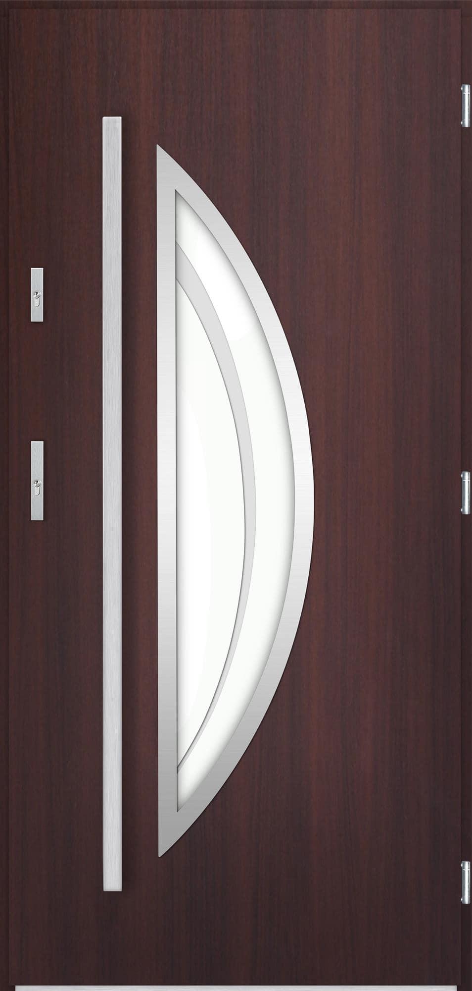 Venkovní vchodové dveøe Polea v odstínu mahagon