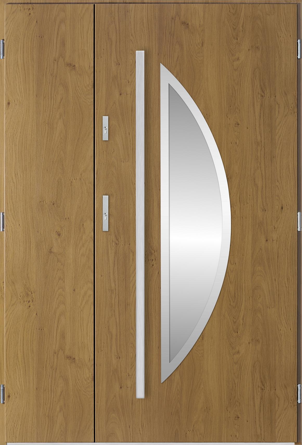 Venkovní dvoukøídlé vchodové dveøe Polea v odstínu winchester