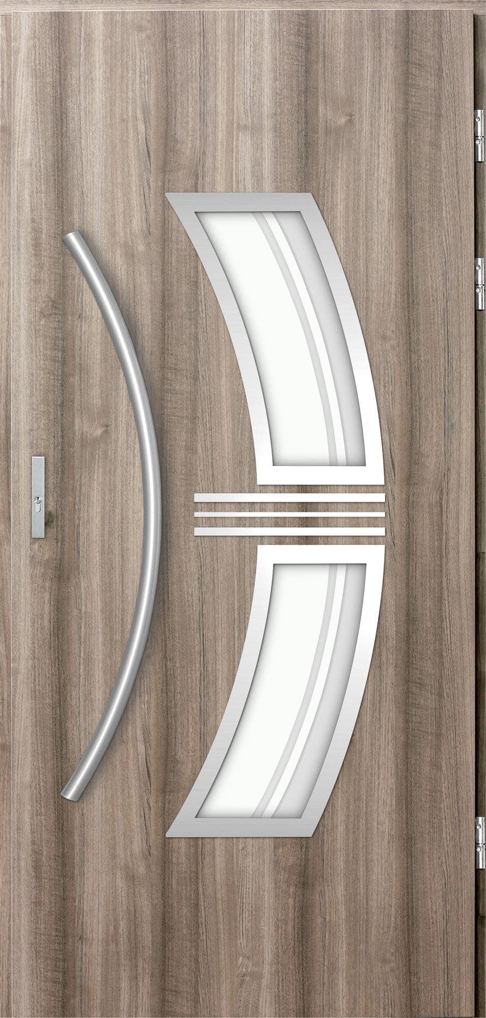 Venkovní vchodové dveøe Stella, svìtlý dub