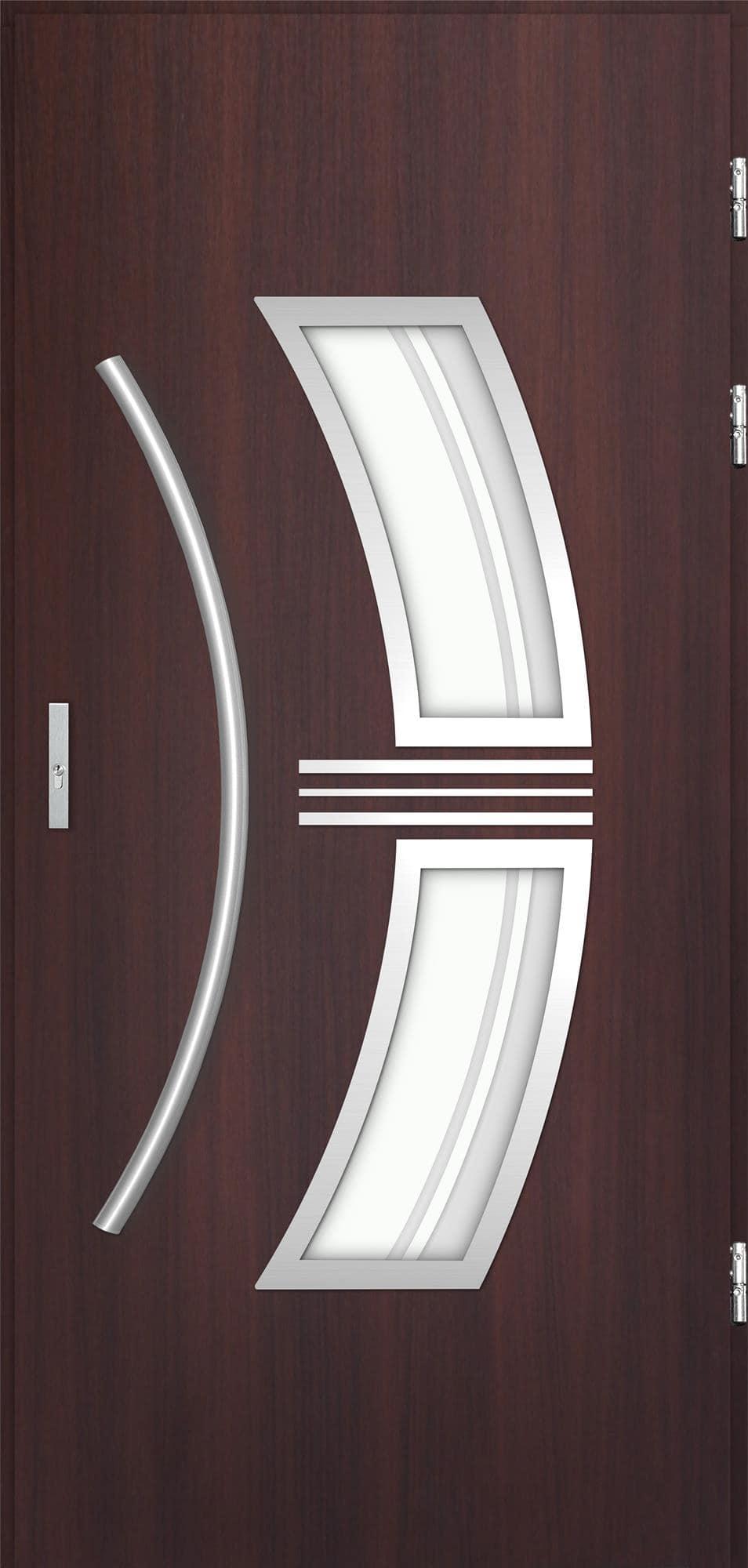 Venkovní vchodové dveøe Stella, mahagon