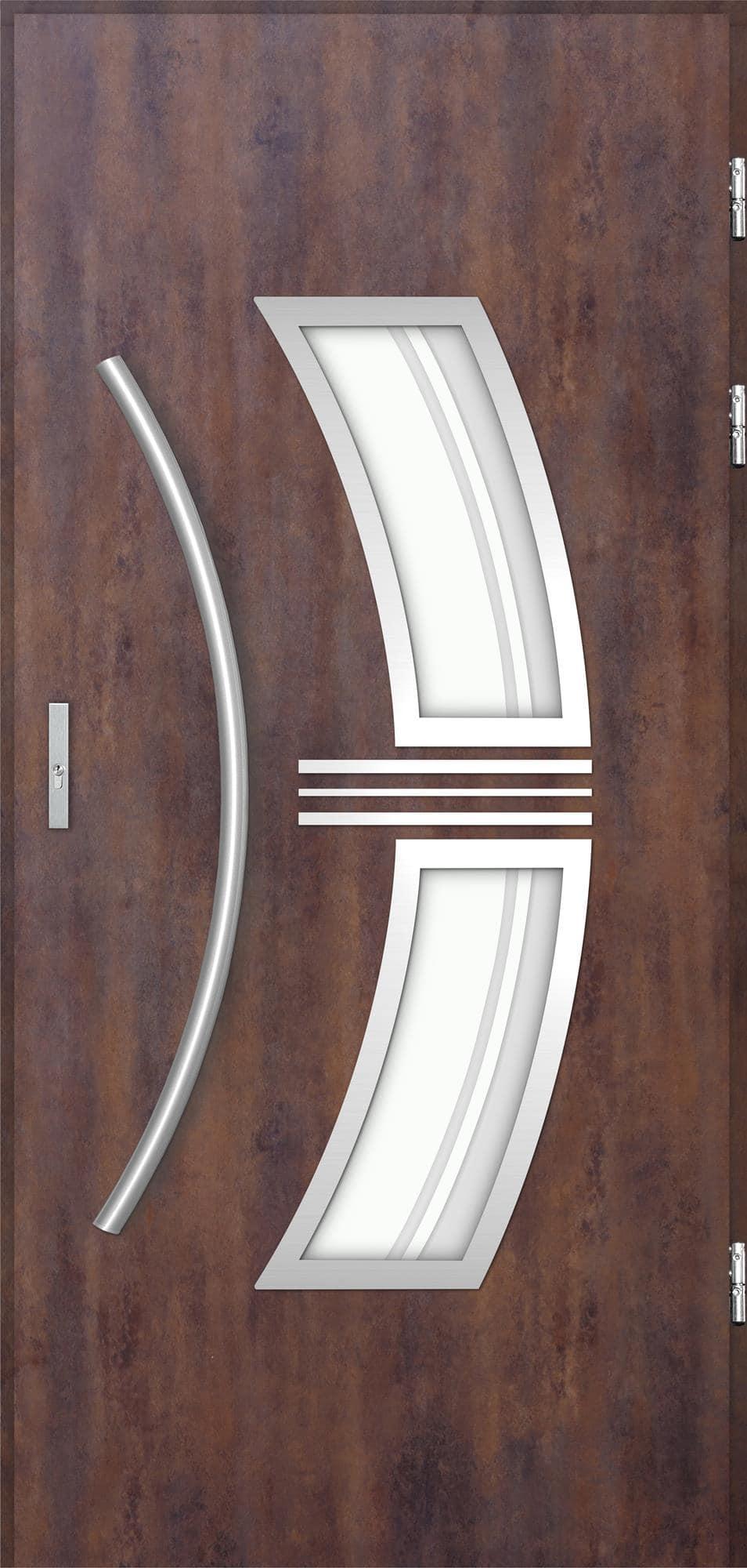 Venkovní vchodové dveøe Stella, rez