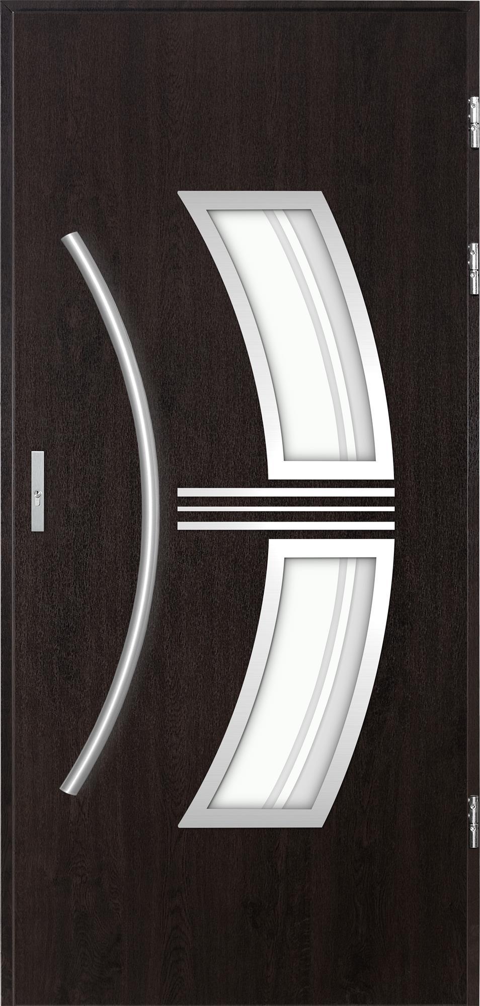Venkovní dvoukøídlé vchodové dveøe Stella v odstínu wenge