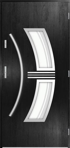 Venkovní vchodové dveøe Sirius, èerná