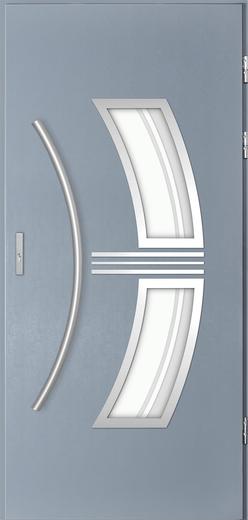 Venkovní vchodové dveøe Sirius, svìtlý antracit