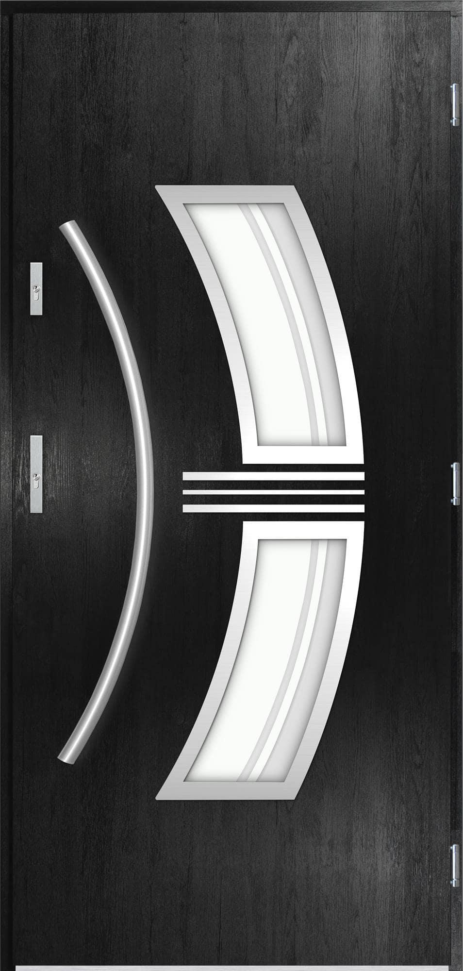Venkovní vchodové dveøe Stella v odstínu èerná