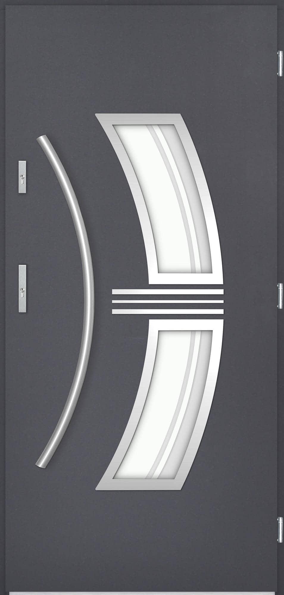 Venkovní vchodové dveøe Stella, antracit