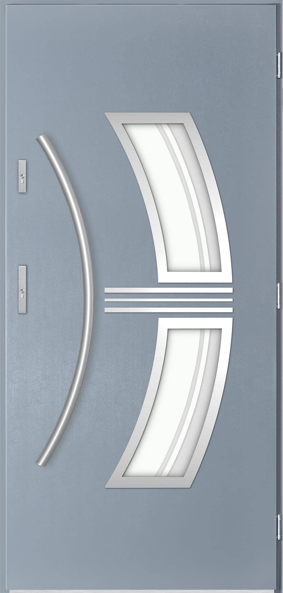 Venkovní vchodové dveøe Stella, svìtlý antracit