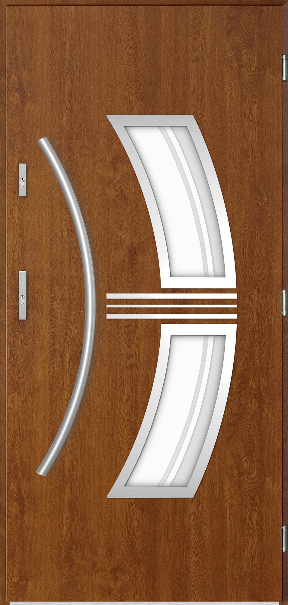 Venkovní vchodové dveøe Stella, dub zlatý