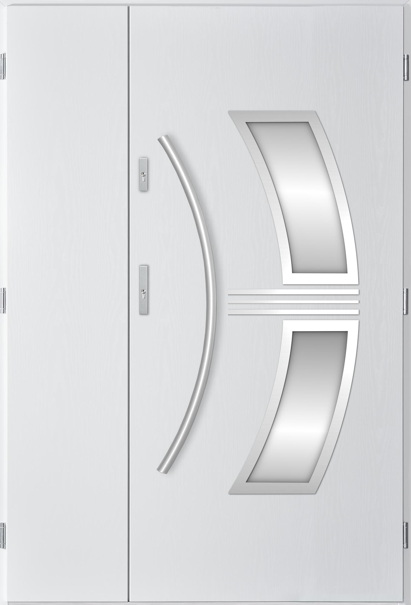 Dvoukøídlé ocelové vchodové dveøe Stella, bílá