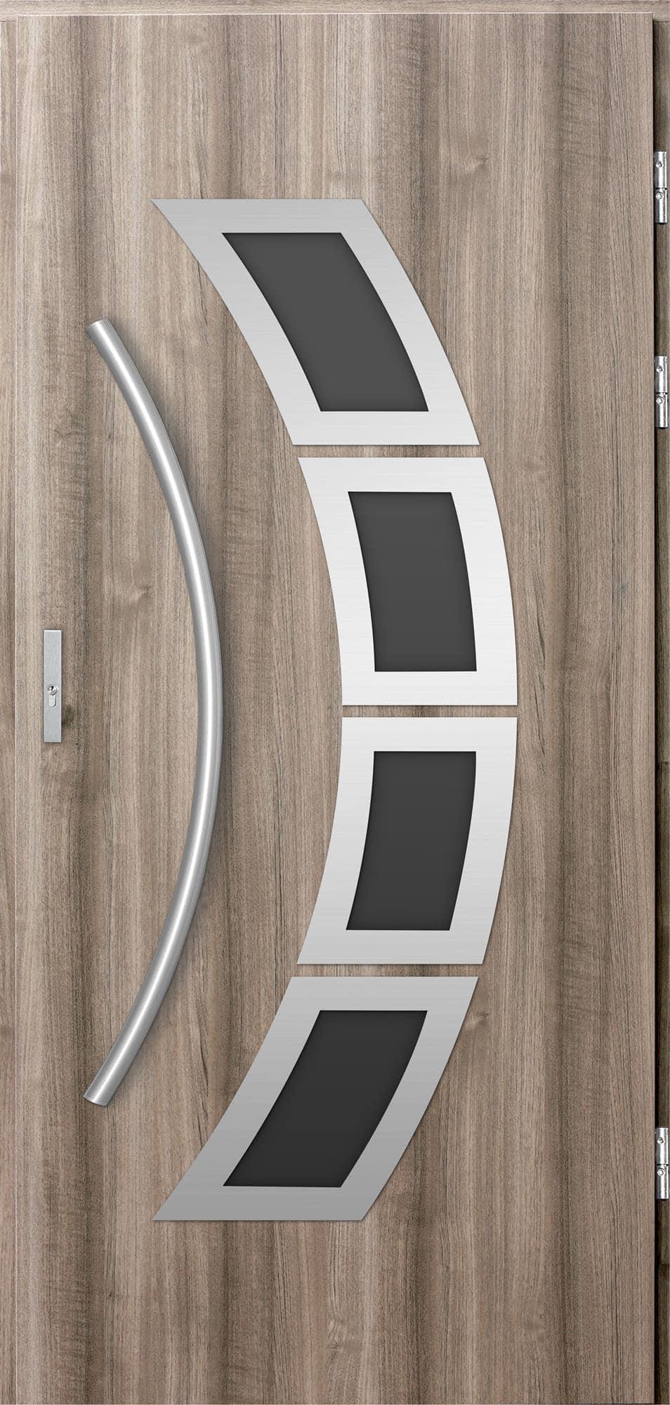 Venkovní vchodové dveøe Tanya, svìtlý dub