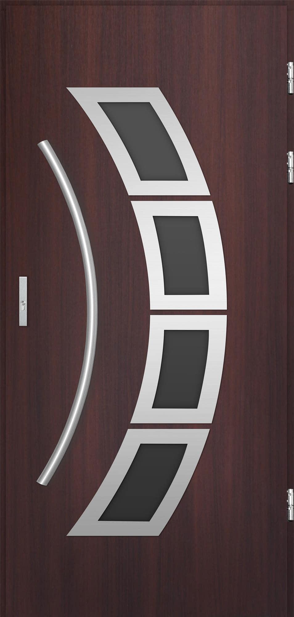 Venkovní vchodové dveøe Tanya, mahagon