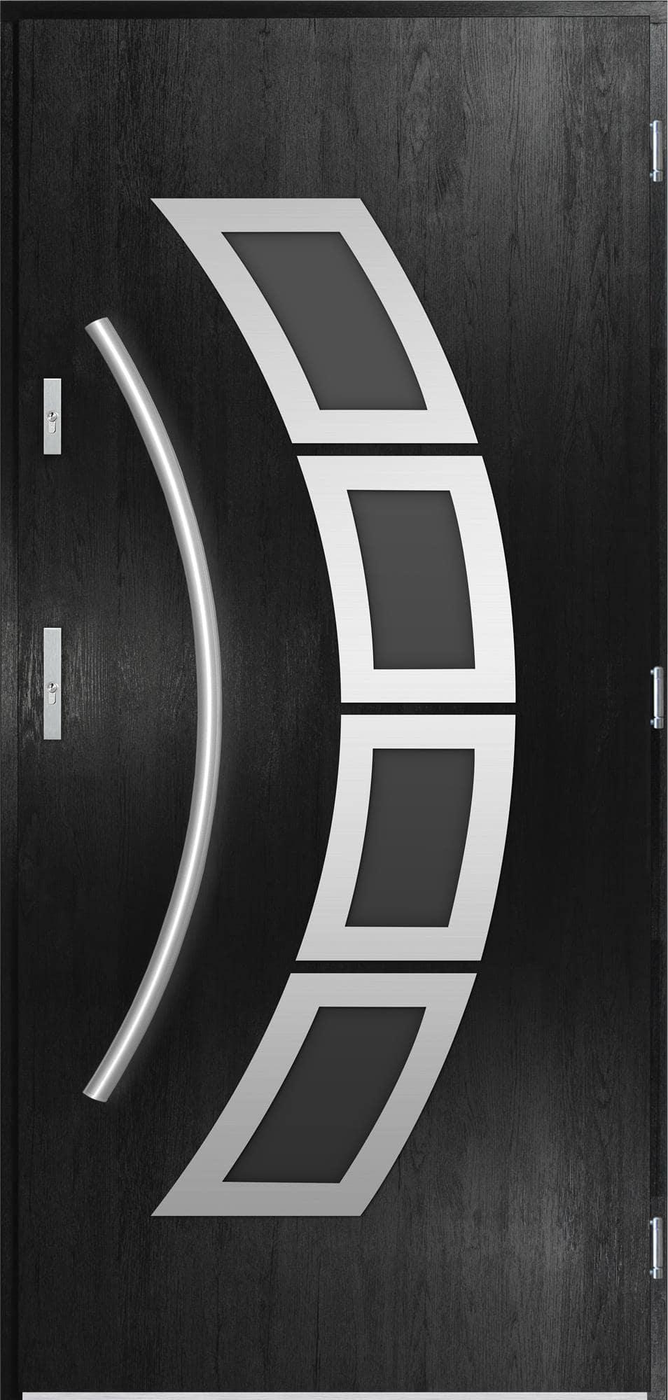 Venkovní vchodové dveøe Tanya v odstínu èerná