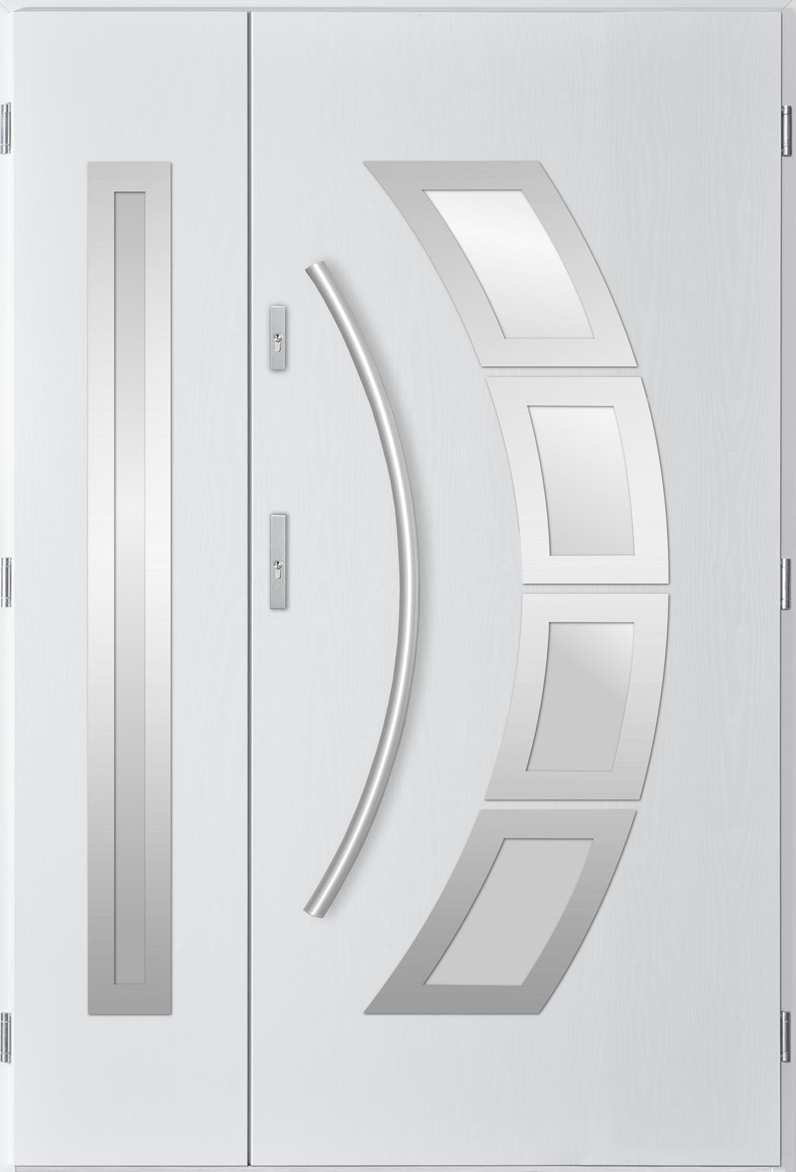 Dvoukøídlé ocelové vchodové dveøe Tanya, bílá