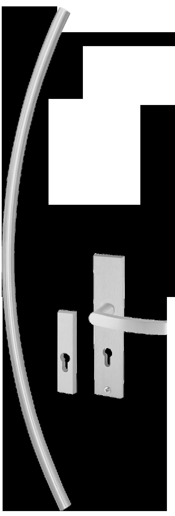 Kování AXA Monetreal zaoblené kulaté, klika AXA a rozety pro vchodové dveøe