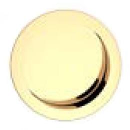 Mušle kulatá zlatá 57 mm