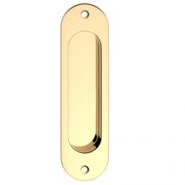 Mušle oválná zlatá 38x130 mm